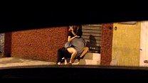 Gostosa metendo na rua com namorado roludo