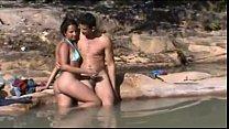 Flagra de sexo real na beira do rio com a namorada