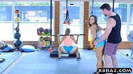 Porno na academia com alunas beldades