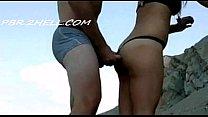 Putaria na praia de nudismo com casal safado