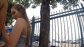 Porno loira novinha de shortinho socado sendo gravada por tarado