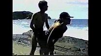 Dotado comendo a esposa bunduda na praia