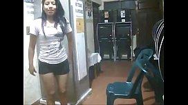 Gostosa latina empregada safada fudendo com patrão