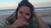 Transando na praia com essa chupeteira sapequinha