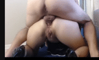 Esposa gozada tomando jato de porra do vizinho no cu