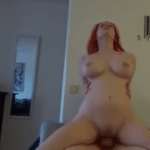 Sexo com peituda ruivinha gozando gostoso na piroca grossa