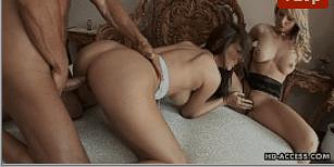 Porno menage com pauzudo fudendo duas putas gostosas
