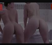 Carla salle nua com amiga rebolando gostoso no banheiro