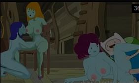 Hentai de hora de aventura na suruba com mulheres peitudas