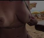 Mc loma nua muito safada mostrando os peitos na praia