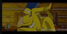 Quadrinhos eróticos simpsons empurrando com força na xoxota