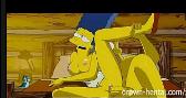 Marge hentai trepando na cabana com o esposo roludo