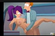 Vídeo pornô em desenho animado do futurama trepando muito