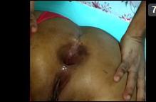 Comendo o cu da ninfeta arrombada com socada forte